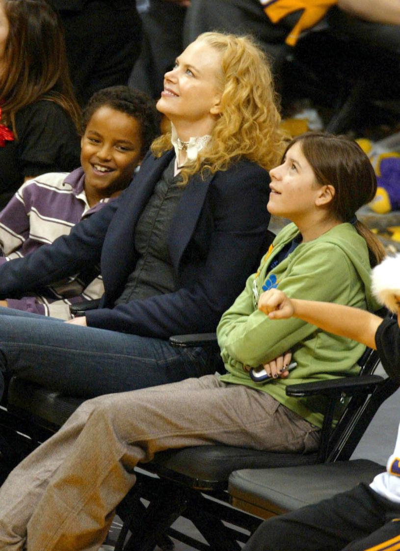 Nicole Kidman z Connorem i Isabellą przed laty /Matthew Simmons /Getty Images
