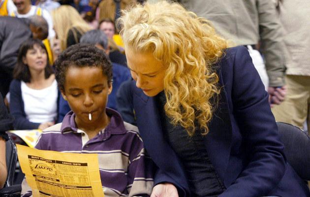 Nicole Kiman z synem Connorem, 2004 rok /Matthew Simons /Getty Images