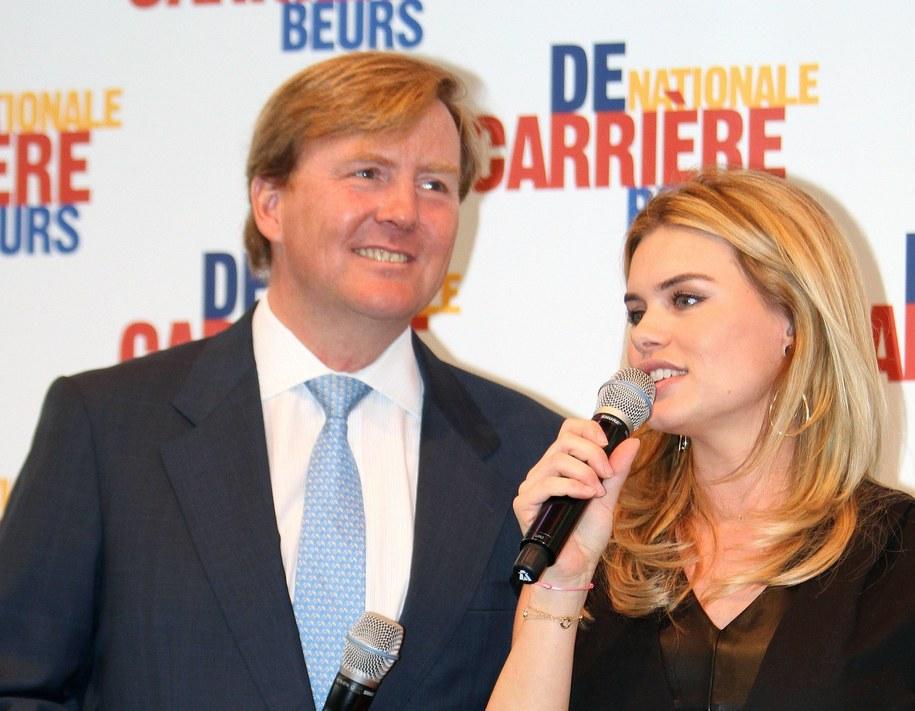Nicolette van Dam w towarzystwie księcia Holandii Wilhelma Aleksandra podczas otwarcia Ogólnokrajowych Targów Kariery RAI w Amsterdamie / Albert Philip van der Werf   /PAP