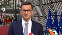 """""""Nie będziemy działać pod presją szantażu"""". Premier Morawiecki przybył na szczyt Unii Europejskiej"""