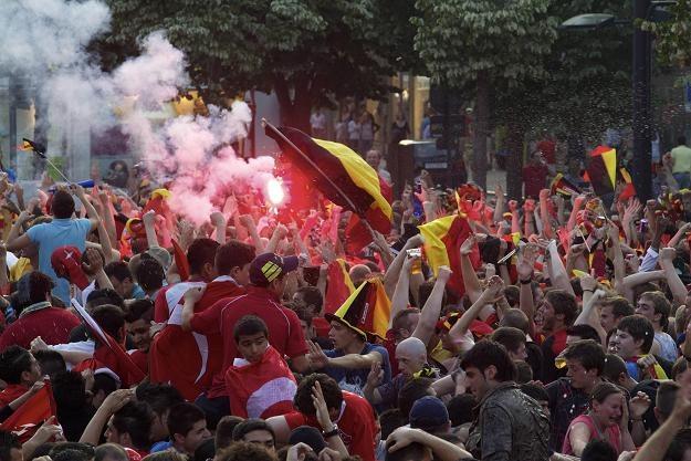 Nie było spokoju pomiędzy kibicami Belgii i Turcji /AFP