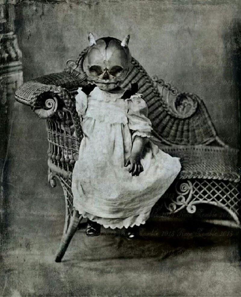 Nie chcielibyśmy spotkać tego dziecka nocą /imgur.com