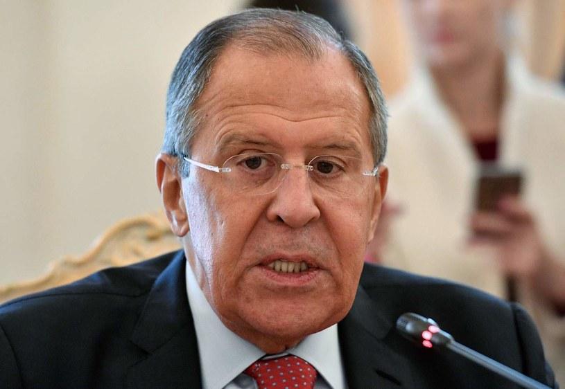 """""""Nie do zaakceptowania są również próby zdławienia gospodarczego Korei Północnej"""" -  powiedział Siergiej Ławrow /AFP"""