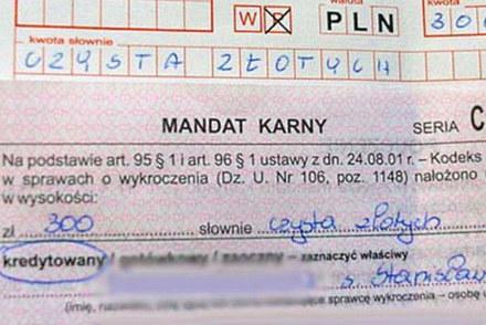 Nie każdy wypisujący mandaty zna język polski /INTERIA.PL