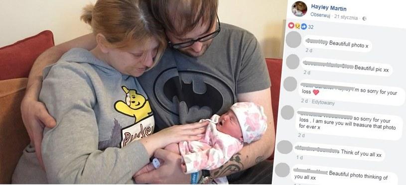 Nie ma słów, które mogłyby opisać, co czuli rodzice trzymając nowo narodzoną Avę w ramionach /Internet