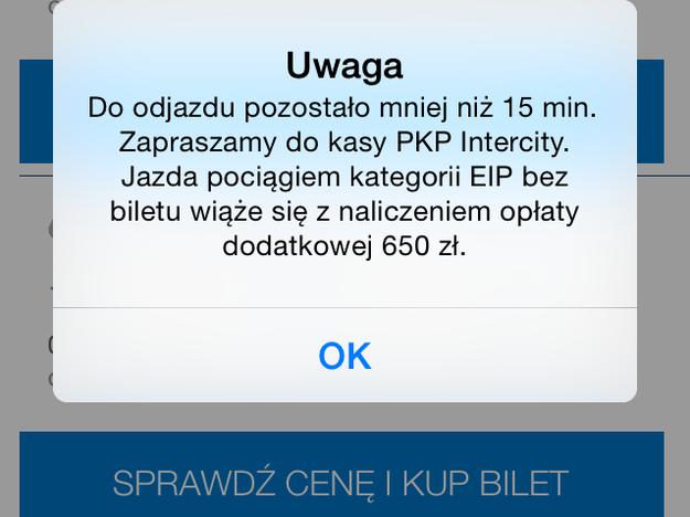 Nie można kupić biletu za pomocą kolejowych aplikacji na smartfony /Mariusz PIekarski /RMF FM