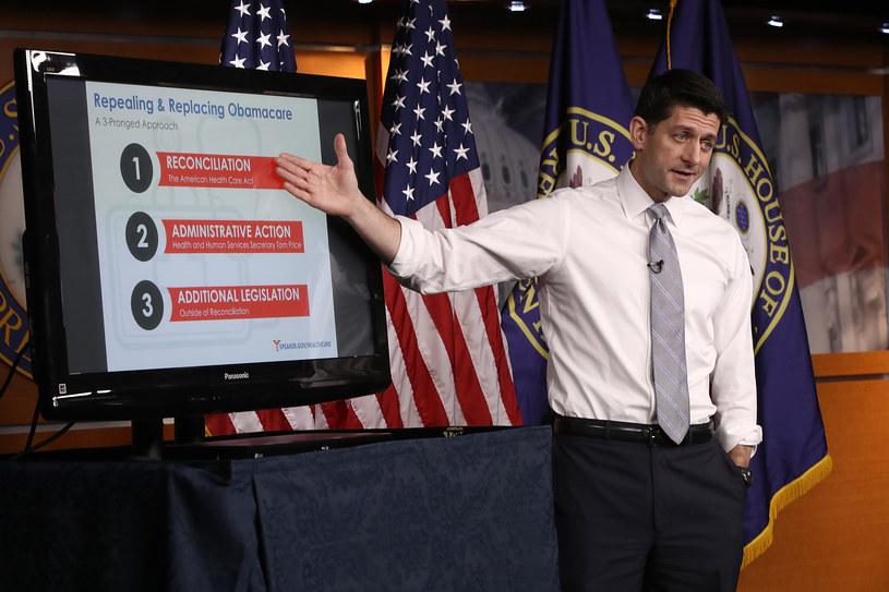 Nie Trumpcare, lecz Ryancare. Na zdjęciu Paul Ryan /AFP