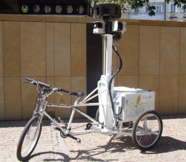 Nie tylko auta - do realizacji Street View Google wykorzystuje także trójkołowe rowerki /materiały prasowe