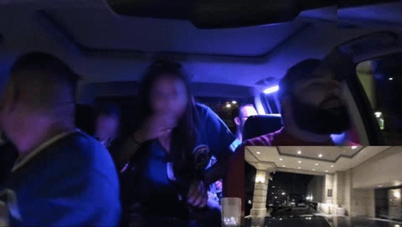 Nie wiadomo, czy feralnego kierowcę spotka kara (twarz pasażerów została rozmazana przez redakcję). Fot. Twitch /materiał zewnętrzny
