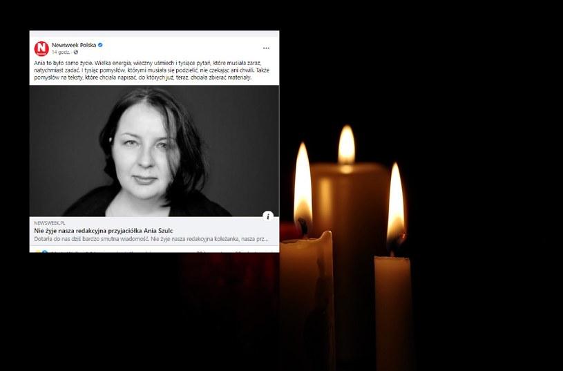 Nie żyje dziennikarka Anna Szulc /Facebook/Pixabay /materiał zewnętrzny