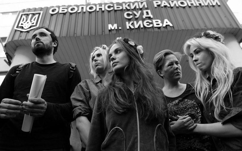 Nie żyje Oksana Schachko, na zdjęciu w środku /AFP