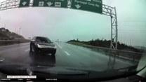 Niebezpieczna sytuacja na autostradzie