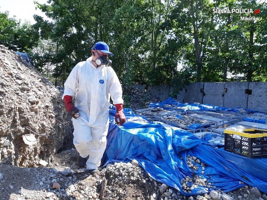 Niebezpieczne odpady znaleziono w czerwcu /Policja