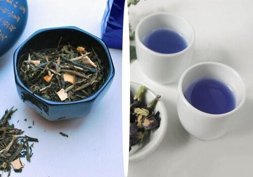 Niebieska herbata parzenie /© Photogenica