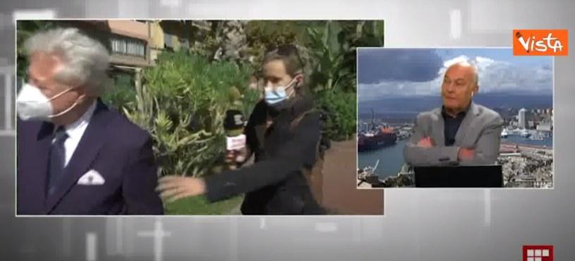 Niecodzienne zdarzenie we włoskiej telewizji /YouTube