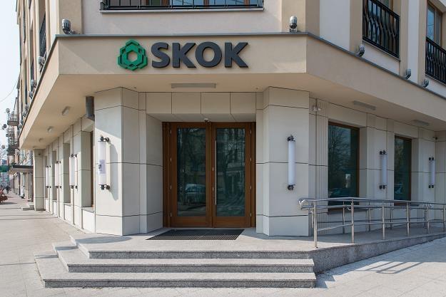 Nieczynna już placówka SKOK Wołomin. Fot. Krystian Maj /FORUM