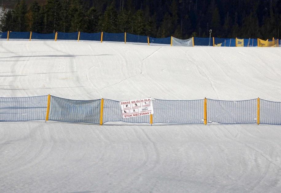 Nieczynna stacja narciarska na Polanie Szymoszkowej / Grzegorz Momot    /PAP