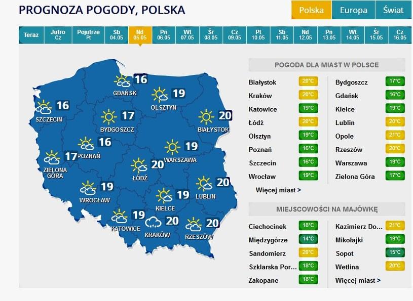 Niedziela, 5 maja /INTERIA.PL