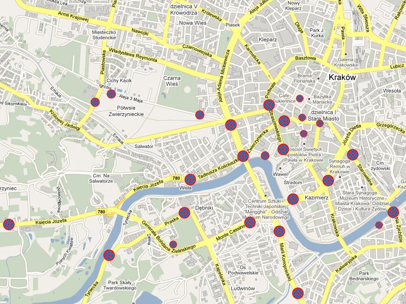 Krakow Praktycznie Zamkniety Zobacz Mapy Rmf 24