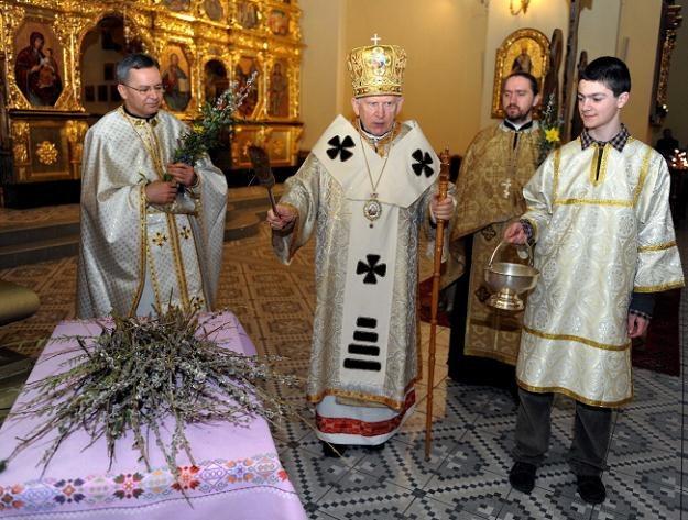 Niedziela Palmowa w w soborze archikatedralnym w Przemyślu, fot. D. Delmanowicz /PAP