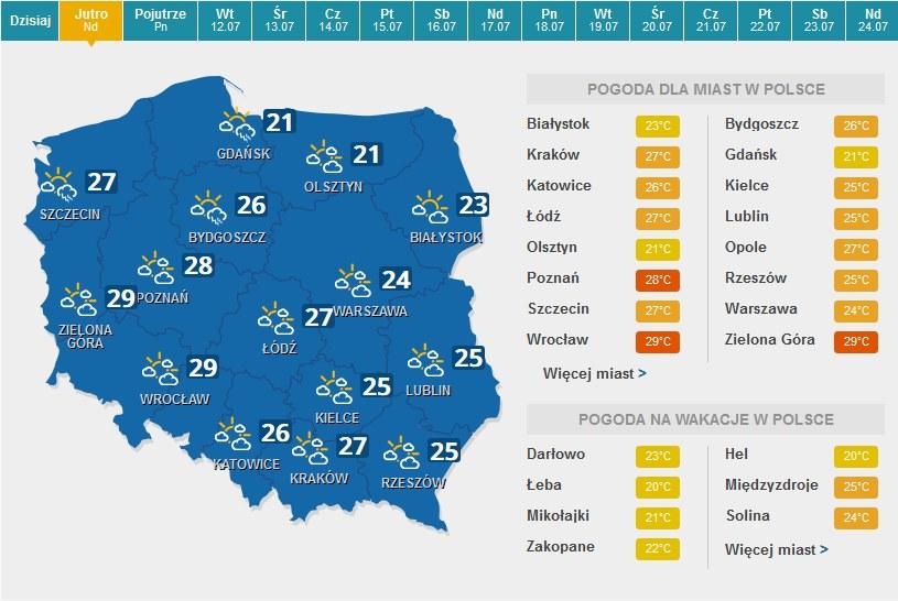 Niedziela /Pogoda /INTERIA.PL