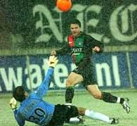 Niedzielan zdobył gola już w drugim występie w Eredivisie /www.nec-nijmegen.nl