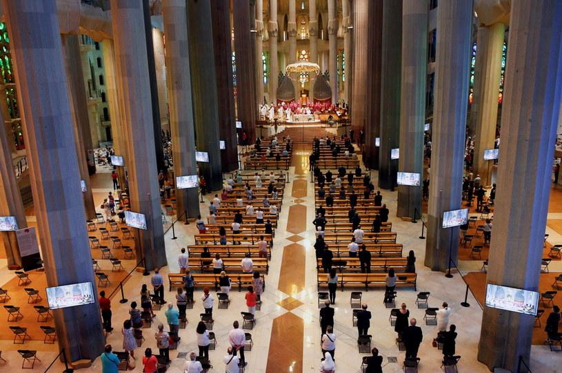 Niedzielna (26 lipca 2020) msza w bazylice Sagrada Familia w Barcelonie /PAP/EPA/QUIQUE GARCIA /PAP/EPA