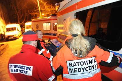 Niedzielna ewakuacja szpitala na Pomorzanach /Marcin Bielecki /PAP
