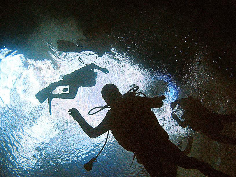 Niektóre jaskinie są słono- i słodkowodne. Powstaje wówczas bardzo ciekawe zjawisko zmiany gęstości wody /AFP