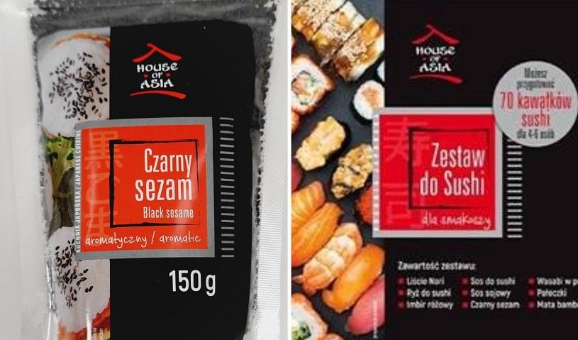 Niektóre partie sezamu czarnego i zestawy do sushi zawierające ten sezam wycofane przez GIS /Informacja prasowa