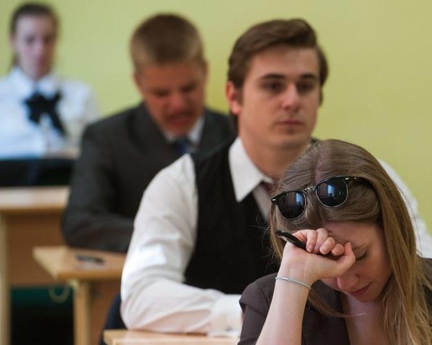 Niektóre pytania na maturze z biologii były podchwytliwe... /Tytus Żmijewski /PAP