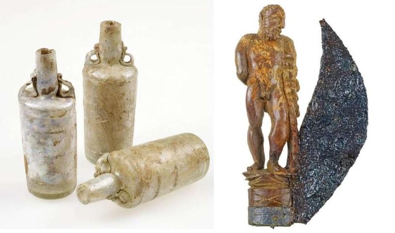Niektóre z przedmiotów znalezione w sarkofagu /Fot. Jürgen Vogel/LVR-LandesMuseum Bonn /materiały prasowe