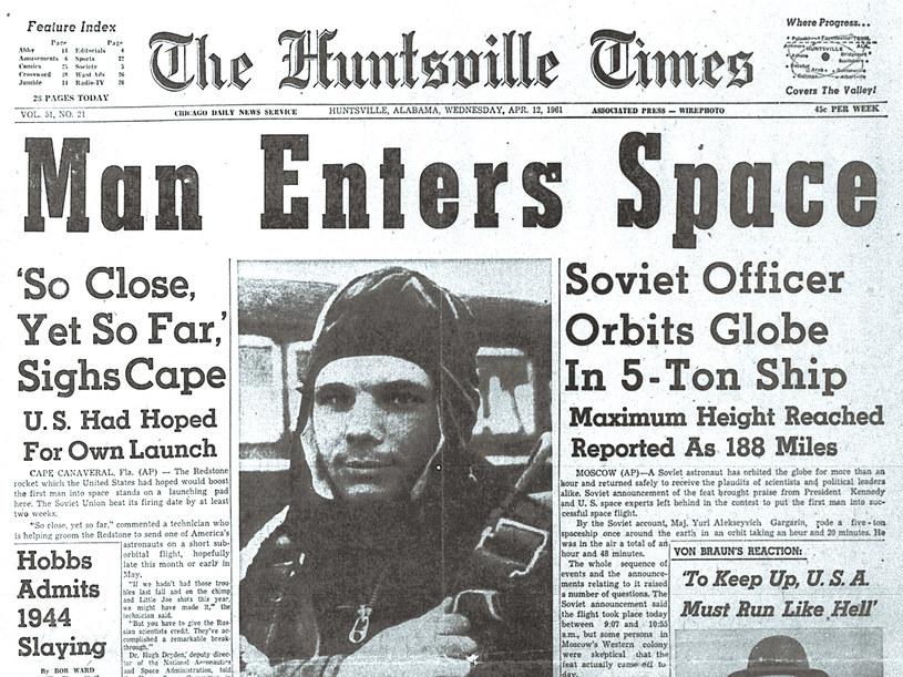 Niektórzy twierdzą, że historyczny lot Gagarina nie był pierwszą wyprawą człowieka w kosmos /AFP