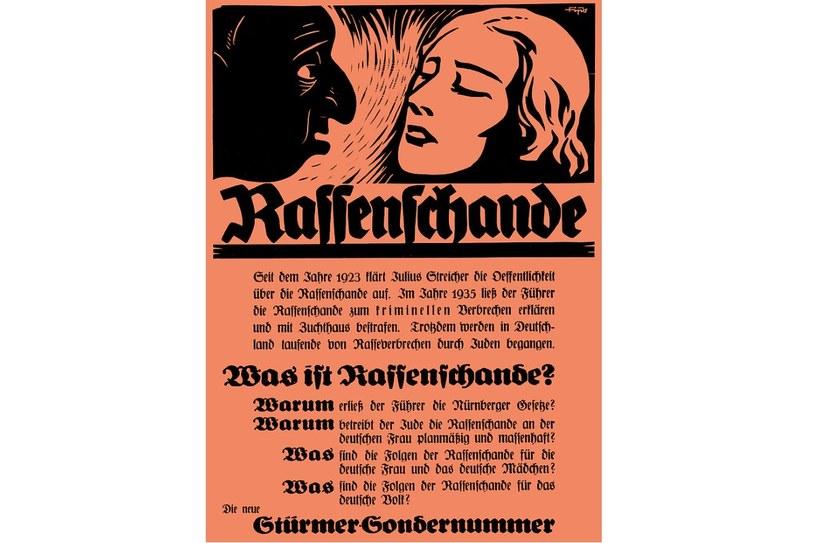 """Niemców ostrzegano przed """"Rassenschande"""", czyli mieszaniem ras /domena publiczna"""