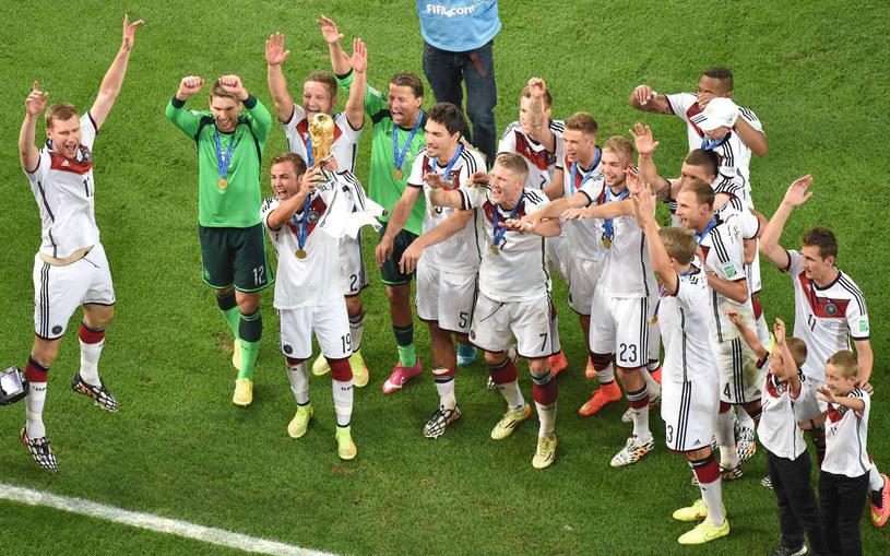 Niemcy świętują zdobycie tytułu mistrza świata /AFP