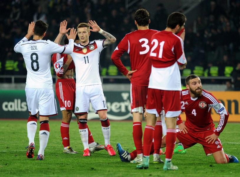 Niemcy zainkasowali komplet punktów w meczu z Gruzją /AFP