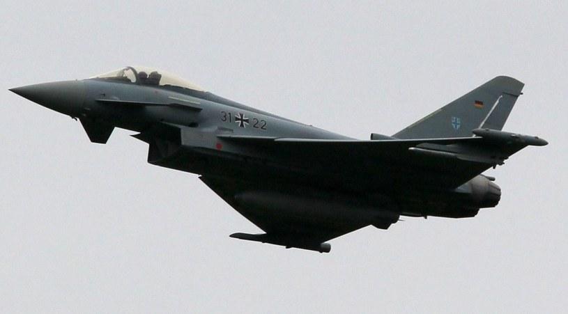Niemcy zdecydowały o wysłaniu myśliwców Eurofighter w celu ochrony przestrzeni powietrznej państw bałtyckich. (fot. ilustracyjna) /AFP