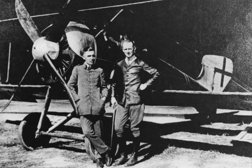 Niemieccy piloci w Jełgawie, lato 1919 roku /Bundesarchiv /materiały prasowe
