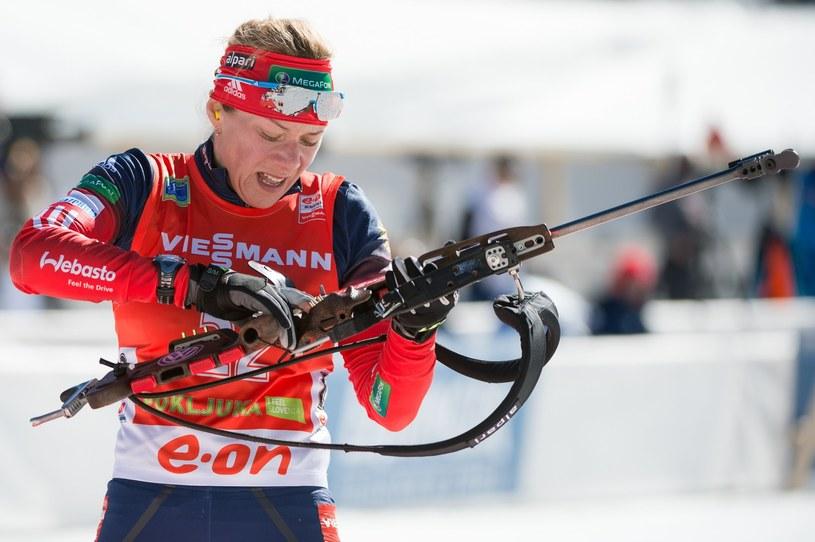 Niemiecka biathlonistka Evi Sachenbacher-Stehle /AFP