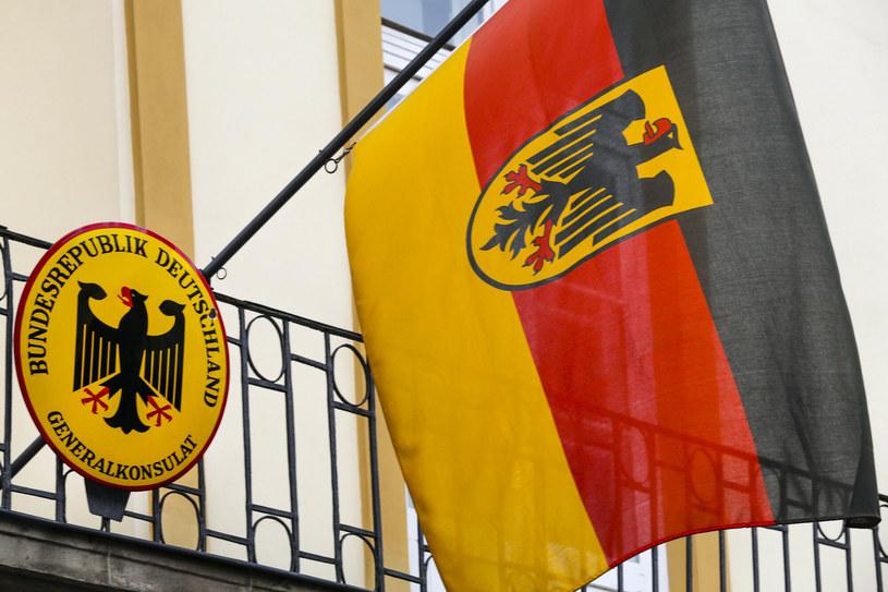 Niemiecka flaga /Beata Zawrzel /Reporter