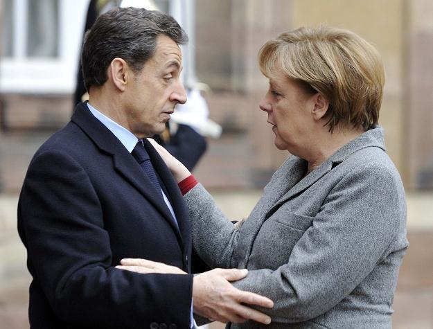 Niemiecka kanclerz Angela Merkel i prezydent Francji Nicolas Sarkozy /AFP