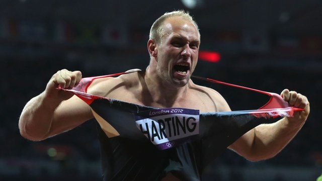 Niemiecki lekkoatleta Robert Harting /AFP