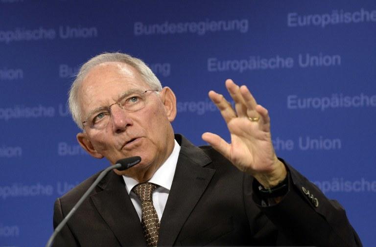 Niemiecki minister finansów Wolfgang Schaeuble /AFP