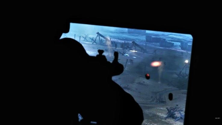 Niemiecki żołnierz podczas ostrzeliwania żołnierzy Stanów Zjednoczonych (Call of Duty: WWII) /Ekspert Ceneo