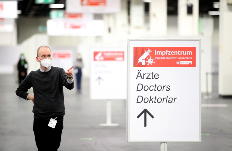 Niemieckie centrum szczepień /Friedemann Vogel /PAP/EPA