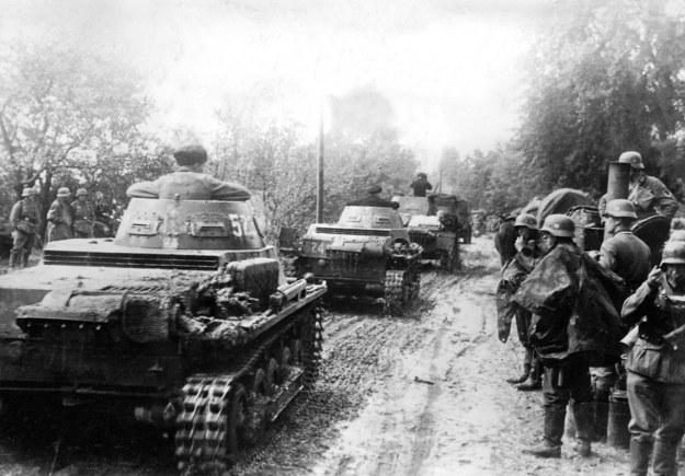 Niemieckie czołgi na terenie Polski, kampania wrześniowa, 1939 /Agencja FORUM