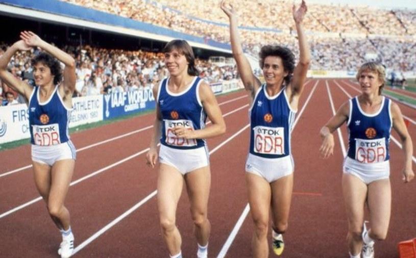 Niemieckie lekkoatletki pod koniec lat 80-tych zdominowały wszystkie zawody /Getty Images/Flash Press Media
