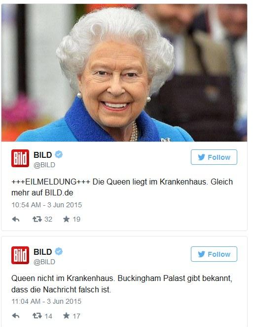 Nieprawdziwą informacje podał również największy niemiecki tabloid /Twitter /