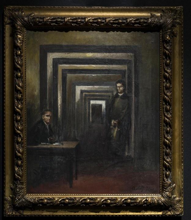 """Nieprezentowany dotąd obraz pędzla Adolfa Hitlera będzie wystawiony na ekspozycji pod nazwą """"Muzeum Szaleństwa"""" /PRESS OFFICE HANDOUT /PAP/EPA"""