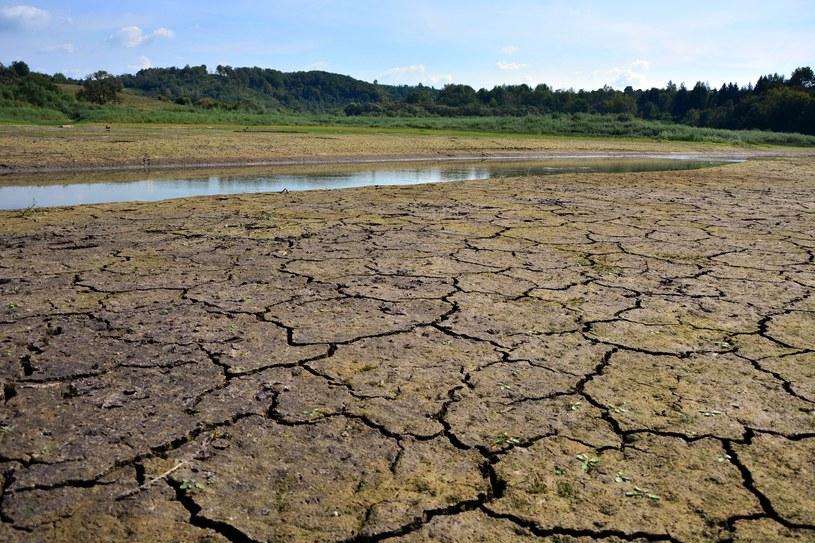 Nierównomierne opady, czyli okresy suszy na zmianę z ulewnymi deszczami, mogą mieć katastrofalne skutki. Na zdjęciu: znikające jezioro w Bieszczadach /Wojciech Zatwarnicki /East News
